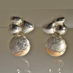 Orecchini in argento e oro